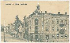 Poland, Radom, Ulica Lubelska, Street Scene, Old Postcard