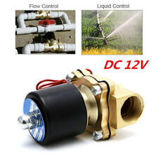 12V DC Electric Solenoid Valve Use for Water Air Gas Fuels 1/2 INCH NPT BRASS