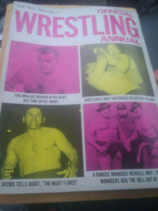 Annual official Wrestling Magazine 1973 WEINGEROFF WWWF NWA AWA Kangaroos Revue