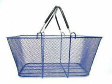Blue Wire Mesh Stacking Shopping Baskets | Pack of 6
