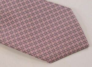 NWT Brioni Neck Tie In Pink Gray Hand Made in Italy Pure Silk Luxury New $300
