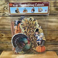 "Beistle 4-16"" Thanksgiving Cutouts NIP READ"