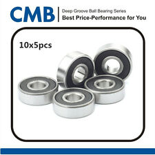 50pcs 625-2RS C3 Rubber Sealed Ball Bearing Miniature Bearings 5 x 16 x 5mm