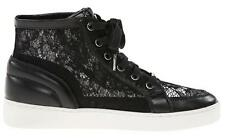 Women's Shoes Michael Kors PHILIPPA HIGH TOP Fashion Sneakers Lace Detail Black