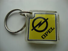 RARE**OPEL**VTG**KEY RING SEE THRU PLASTIC* KEY CHAIN stainless oem333/3332 *NEW