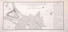 PERÚ,Fortaleza de Sacsahuamán.Paz Soldán.Geografía del Perú 1865.