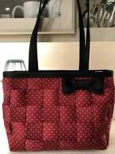 Harveys Seatbelt Bag Minnie Dots Minnie Mouse Large Tote Purse Bag Red Liner