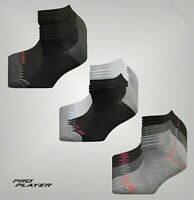 12 Pack Ladies Pro Player Knitted Logo Arch Support Low Cut Socks Size 4-8
