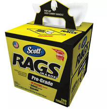 Scott PRO GRADE Rags In A Box (39364) Shop Towels for Solvents & Heavy Duty Jobs