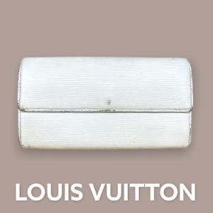 LV3116  LOUIS VUITTON White Epi Leather Sarah Long Envelope Wallet FAST SHIPPING