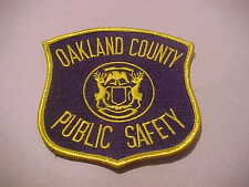 OAKLAND COUNTY MICHIGAN POLICE PATCH SHOULDER PATCH OLD STYLE
