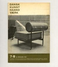1961 Danish Craft DESIGN: Dansk Kunsthåndværk GARDBERG Erik Pløen Timo Sarpaneva