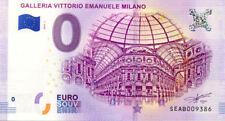 ITALIE Milano, Galleria Vittorio Emanuele, 2018, Billet 0 € Souvenir