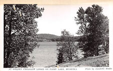 Muskoka Canada 1940 RPPC Real Photo Postcard Golden Pheasant Lodge on Fairy Lake
