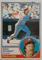 Topps 1983 Mike Schmidt Philadelphia Phillies Baseball Card #300