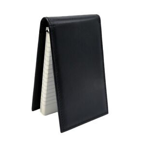 Police Leather Notebook Cover Pocket Note Pad Black Pad Style Duty Memo Book 3x5