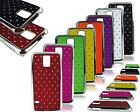 for Samsung Galaxy S5 MINI SM-G800 NUOVO CROMO LATI TELEFONO DIAMANTI rigida