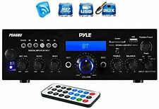 Pyle PDA6BU Bluetooth Stereo 200 Watt Amplifier Wireless Home Theater Receiver