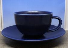 Iittala Arabia Finland 24h Coffee Cup and Saucer Set Heikki Orvola Matte Blue