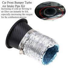 1xABS Car Front Bumper Turbo Air Intake Pipe Turbine Air Funnel Kit Inscrease O2