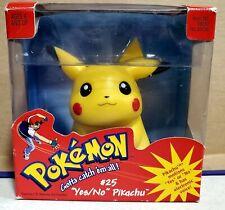 1999 Vintage Pokemon Hasbro Yes/No Pikachu Toy #25 Complete In Box CIB Nintendo