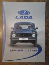 LADA NIVA 1.7i 4x4 orig 2002 2003 Swiss Mkt Sales Brochure in French