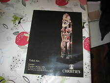 CHRISTIES CATALOGUE TRIBAL ART JUN91