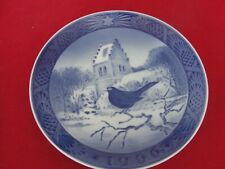 1966 ROYAL COPENHAGEN CHRISTMAS  OLD PLATE BLACKBIRD