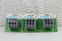 3 Packs Of 3 Dymo 1741670 Embossing Tape Refill for Express Label Maker Black