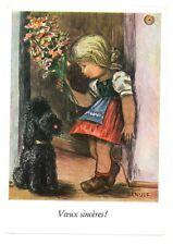Carte de voeux CP La Petite Gratulante Voeux sincères Arnulf Stegmann ann 1960