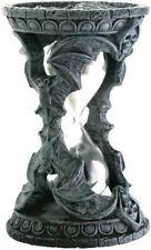 Gothic Halloween Skull Bat Sand Timer Hourglass Decoration Figurine Collectible