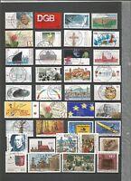 BRD Deutschland Bund Briefmarken Lot Germany Stamps Sellos Timbres Papierfrei