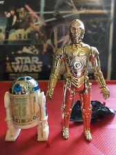 R2-D2 w/ Dark Blue Dome & C-3PO Removable Limbs Vintage Star Wars Figure
