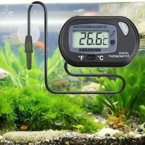 Digital LCD Thermometer Aquarium Fish Tank Vivarium T1Y5 Stick Marine Water F3Y7