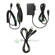 Micro USB Cable+Car+Wall Home AC Charger for Samsung Galaxy S S2 S3 S4 S5 S6 S7