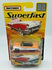 Matchbox Superfast No.45 1956 Ford Sunliner White/Orange Mint On Card/Boxed
