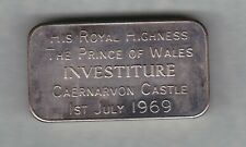 More details for boxed 1969 the prince of wales 100 grams fine silver bar in near mint condition