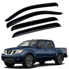 For 2005-2020 Nissan Frontier 4pcs Smoke Window Sun Rain Visors Wind Crew Cab (Fits: Nissan)