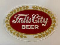 Large Vintage Falls City Beer Patch NOS 1960 Jacket Patch F3E
