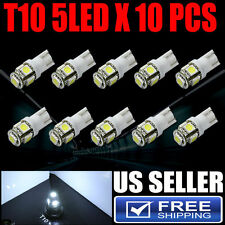 10 pcs 6000K White T10/193/658 5-SMD Package kit License Plate Door Light Bulbs