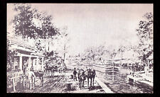 'D & H Canal E. L. Henry painting' photo reprint PC published mid-1900s