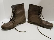 Steve Madden womens brown leather ankle boots size 6 M