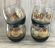 Set of 4 Vintage Dorothy Thorpe Roly Poly Glasses
