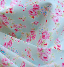 Rose Fabric Pre-Cut Cotton Quilt cloth Fabric for Sewing Green F49 A