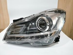 FOR 2012 13 14 MERCEDES-BENZ FACELIFT W204 C63 LED DRL LEFT XENON HEADLIGHT