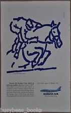 1988 KOREAN AIR advertisement, Boeing 747, Seoul Olympics, Horse, European ad