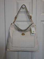 NWT Tory Burch $498 Chelsea Chain Leather Hobo Shoulder Bag, New Ivory