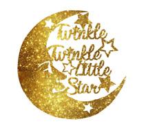 Moon Baby Shower Cake Topper Decoration, Gender Reveal glitter cake topper