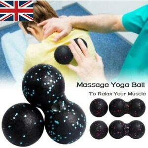 2PCS Peanut Fitness Massage Ball Set Double Lacrosse Mobility Balls