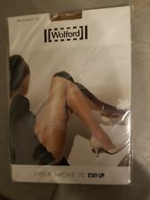 WOLFORD BAS JARETTIERE AUTO FIXANT NEUF TAILLE L CARAMEL